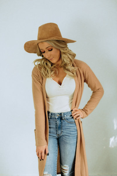 That's So Fall Camel Cardigan