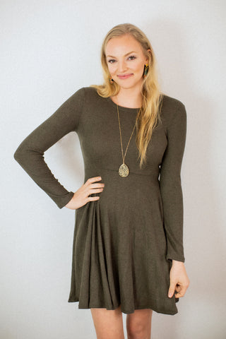 Eleanor Olive Dress