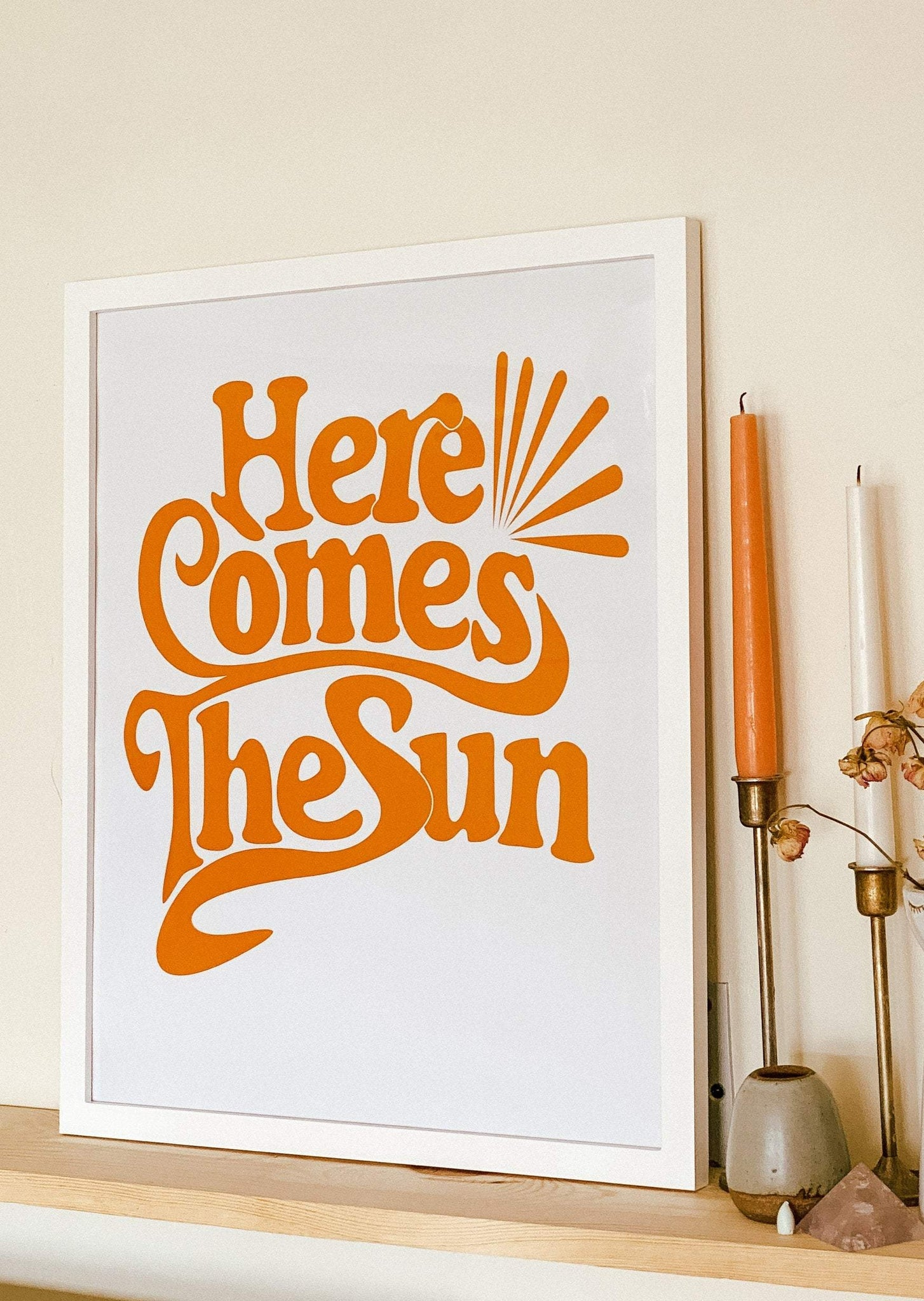 16x20 Poster Here Comes the Sun - Framed Print (Pickup Only)