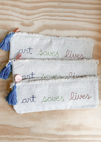 Art Saves Lives Pencil Pouch