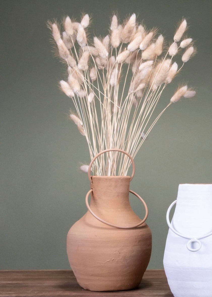 Deco Handle Vase - Large (Pickup Only)