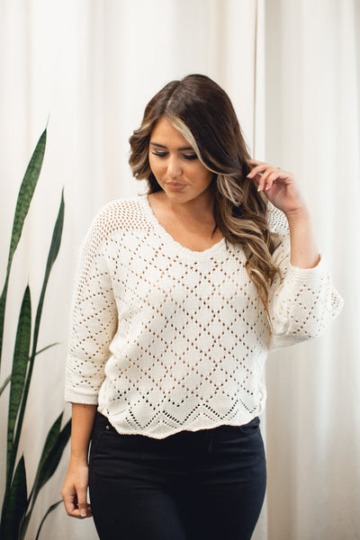 Lily Crochet Sweater
