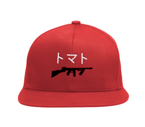 Embroidered Gun Cap - Red