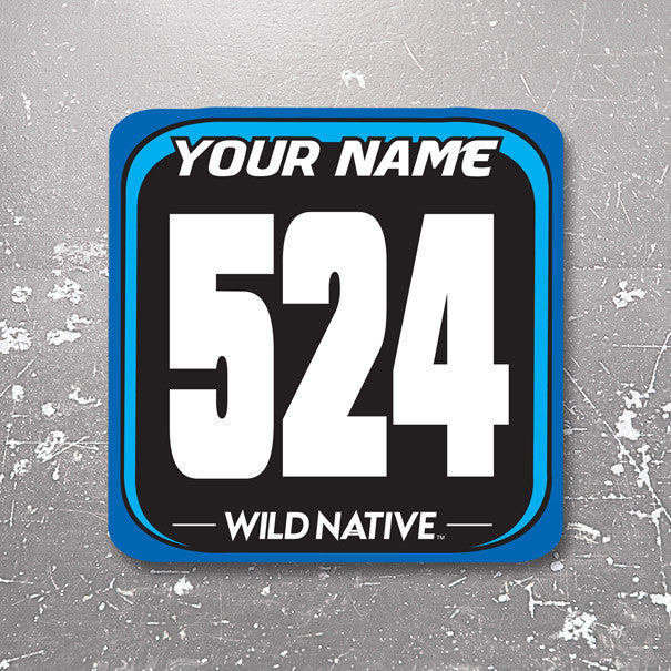 Square Front Bumper Number Plate Decal