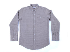 LONG SLEEVE DIAMOND BROWN POLO
