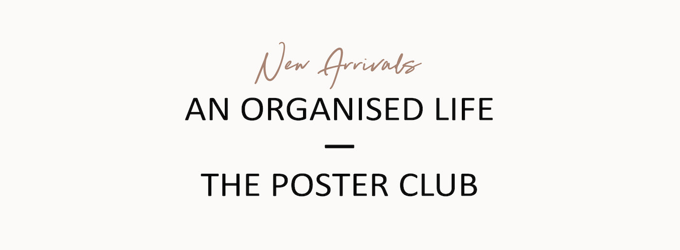 An Organised Life - The Poster Club - Paper Plane - Mt Maunganui Stockist
