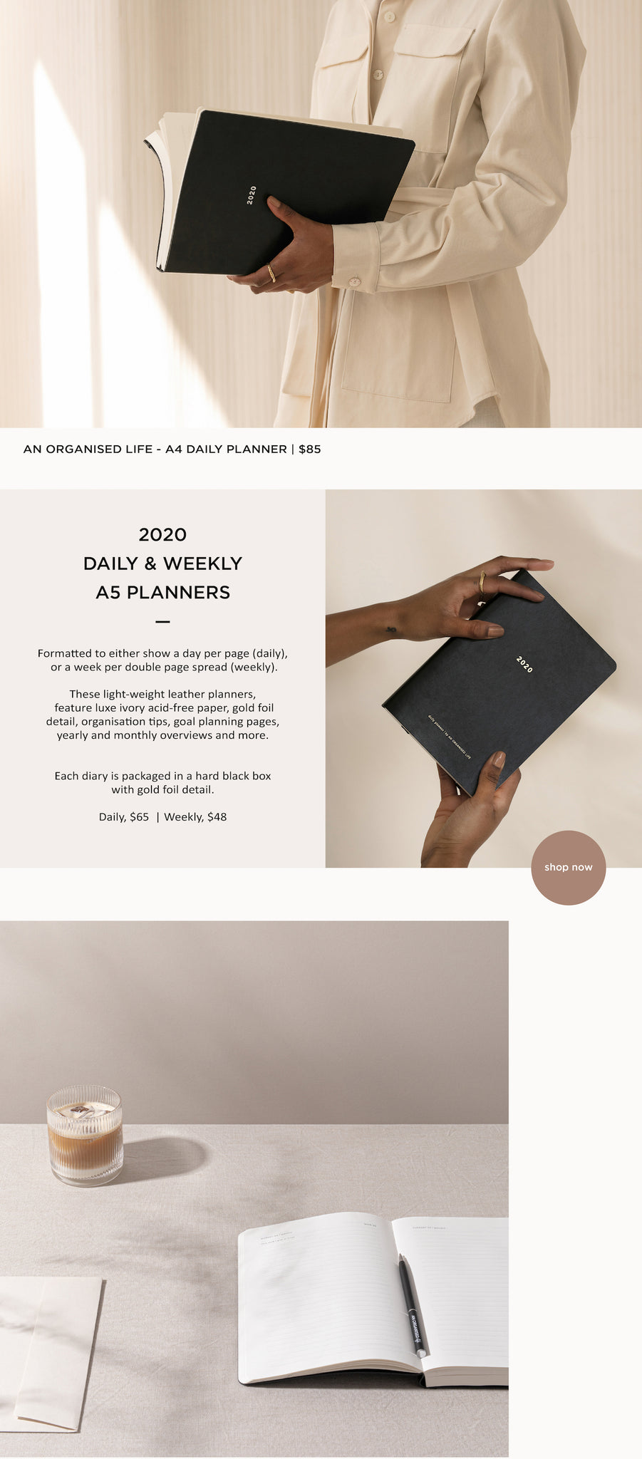 An Organised Life - A5 Diary - Planner - Paper Plane - Mt Maunganui Stockist