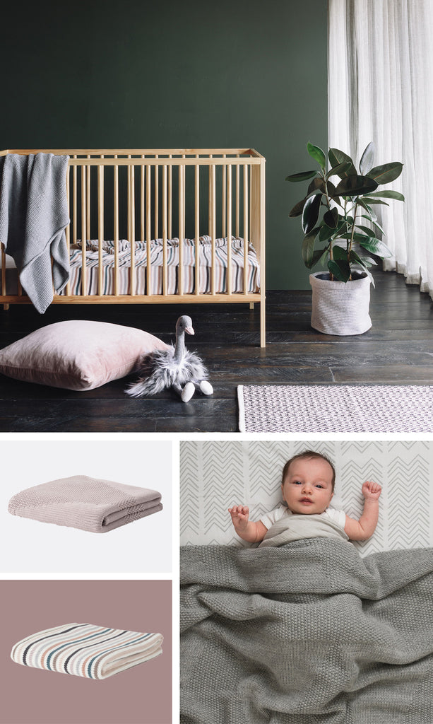 Città - AW17 - Baby Cot Blankets & Ollie the Ostrich Soft Toy