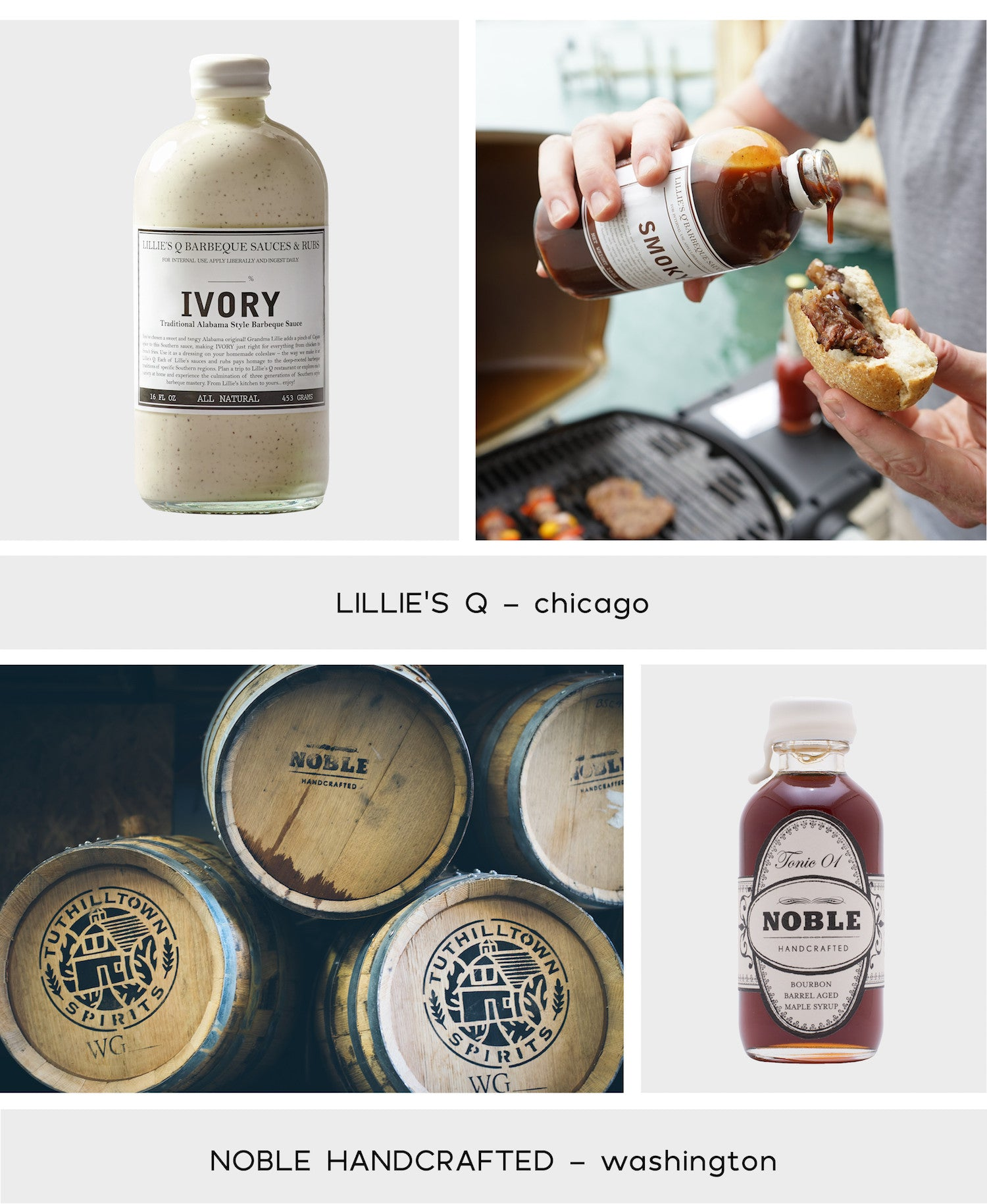 Noble Handcrafted Maple Syrup - Lillie's Q Sauces - Paper Plane Store - NZ