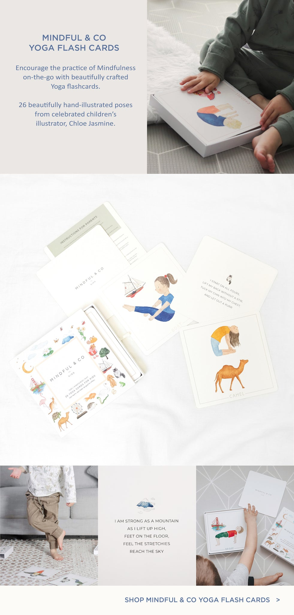Paper Plane - Mindful & Co - Yoga Flash Cards - Kids Gift - NZ Stockist
