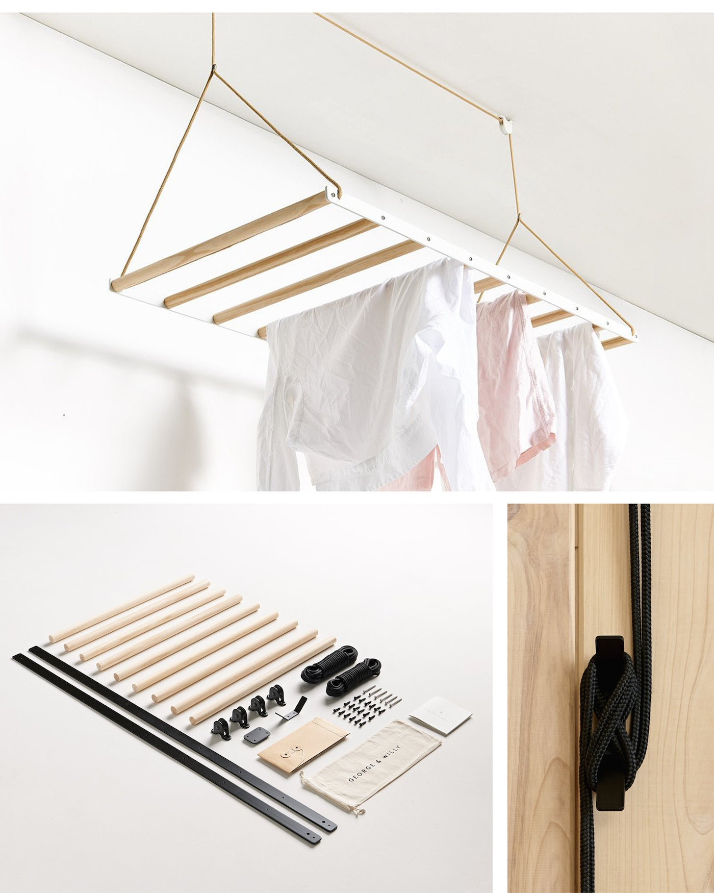 George & Willy - Hanging Drying Rack - Made in New Zealand