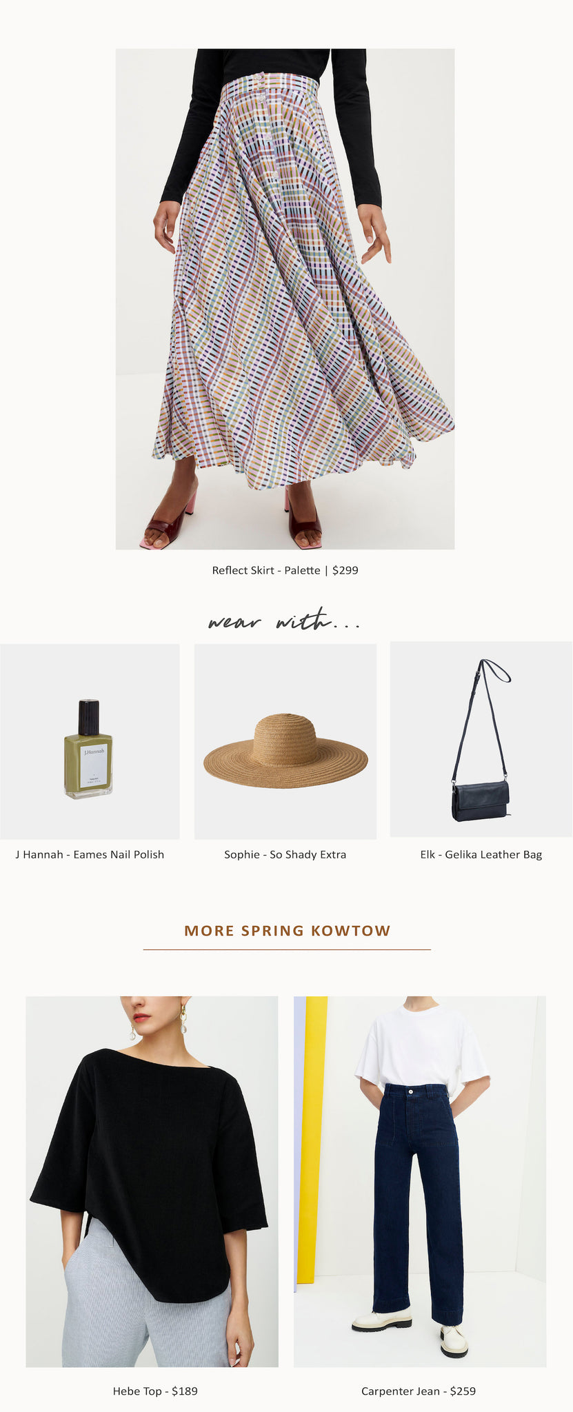 Paper Plane - Kowtow - Complete the look - Accessories - Spring