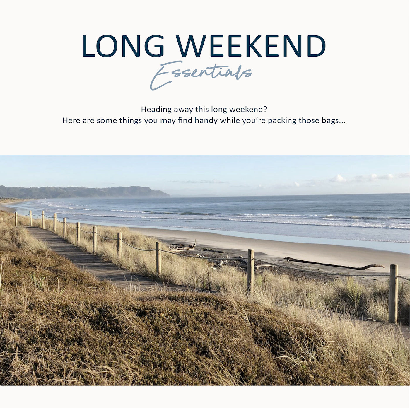 Paper Plane - Long Weekend Essentials - What to Pack -  Mount Maunganui - Lifestyle Store