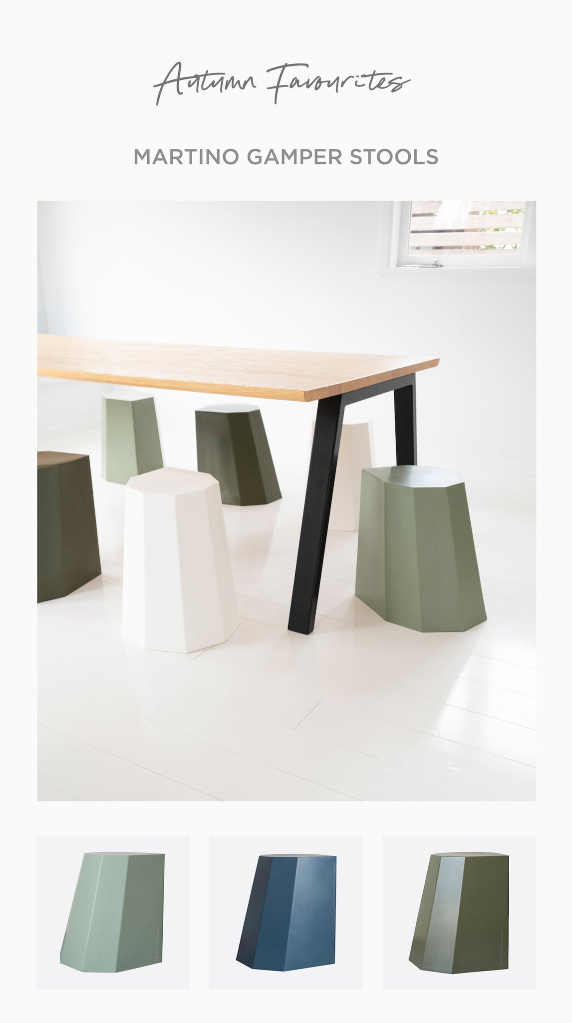 Paper Plane - Marinto Gamper Stools - Made in NZ