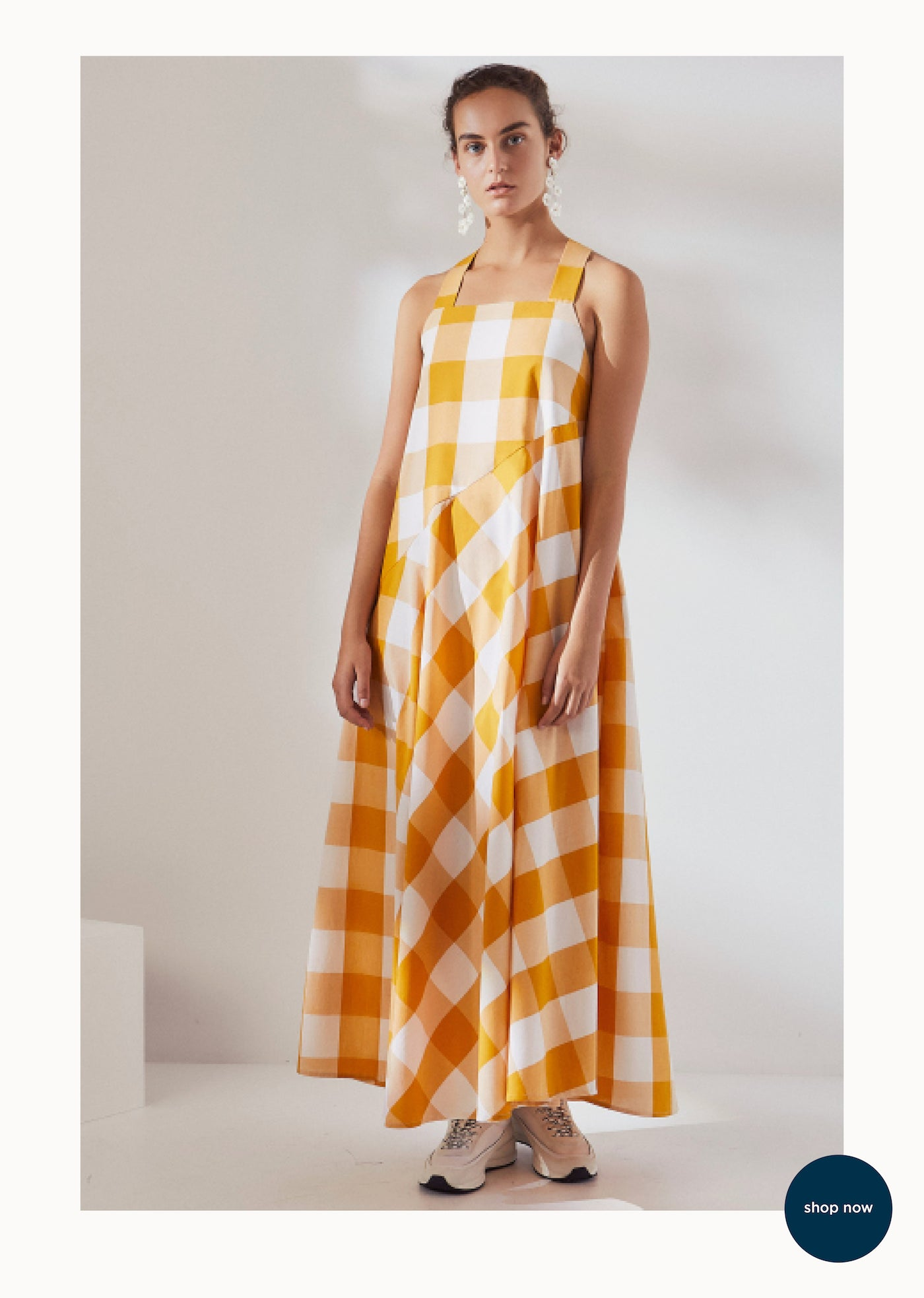 Kowtow - Ethical Fashion - Riley Check Dress - Mt Maunganui Stockist