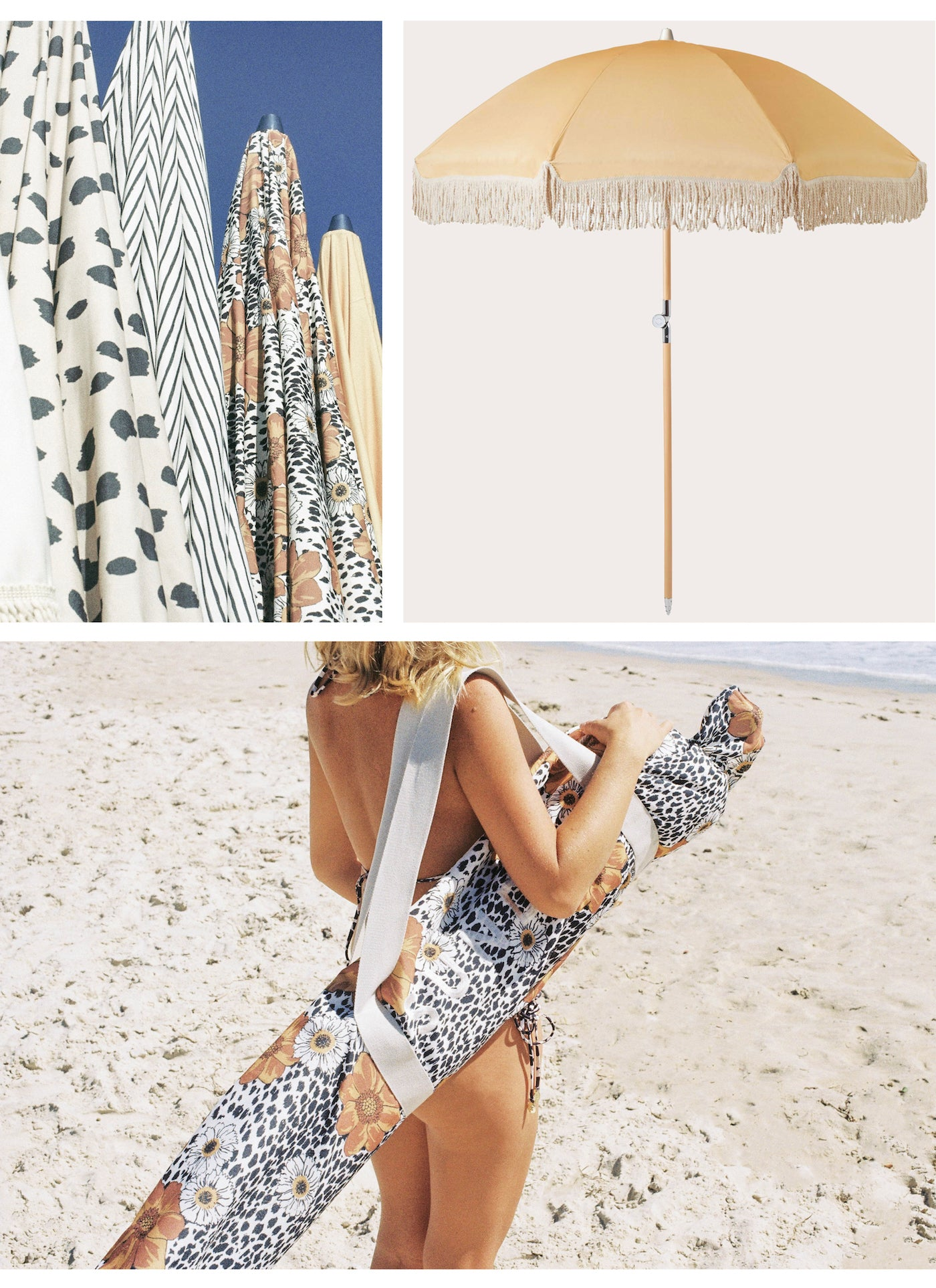 Sunday Supply Co - Vintage Beach Umbrellas - Paper Plane