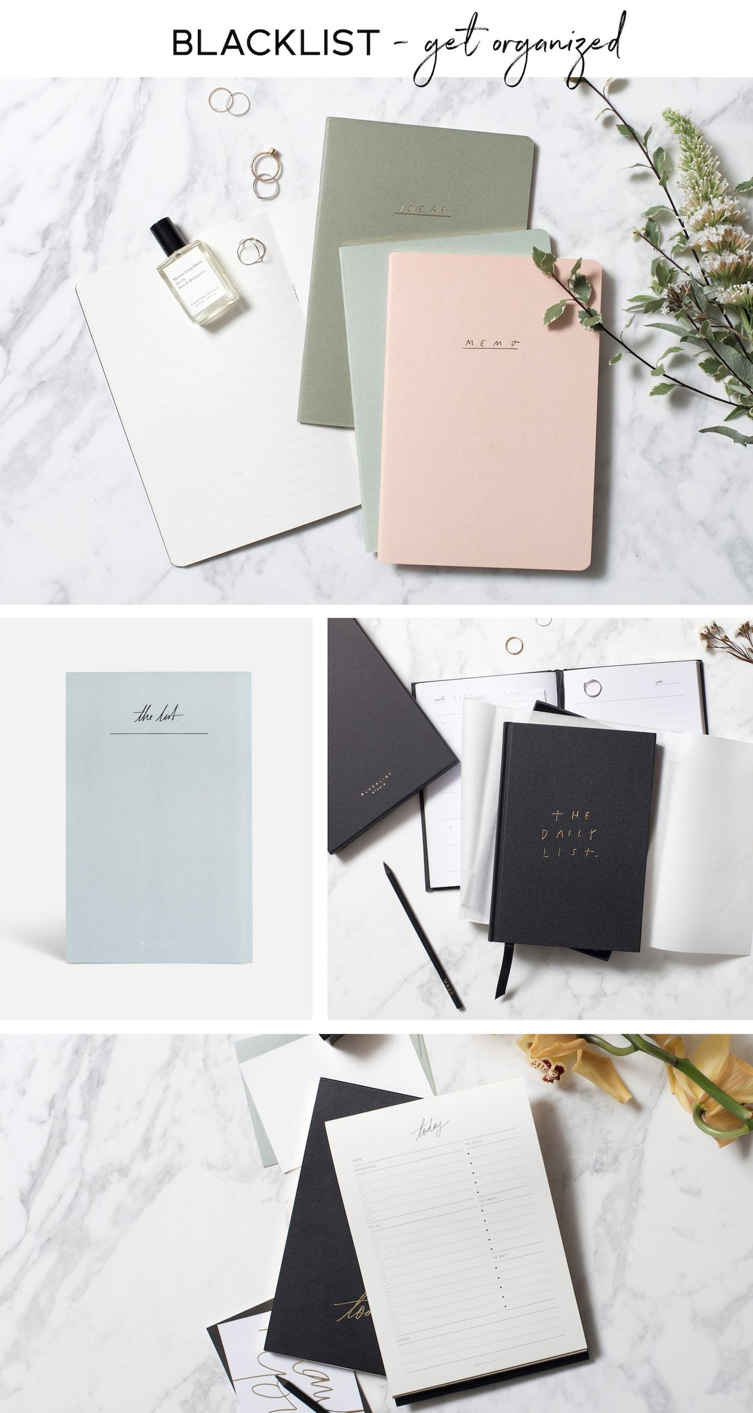 Blacklist Stationery - Paper Plane Store - NZ