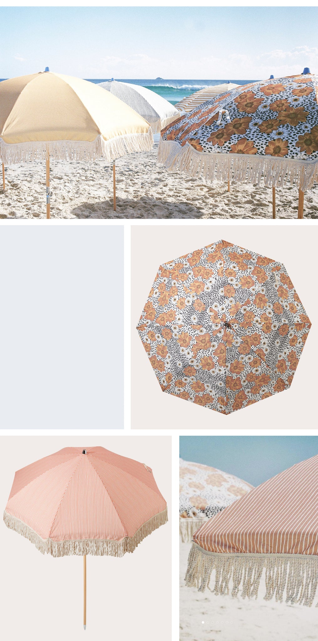 Sunday Supply Co - Beach Umbrellas - Paper Plane