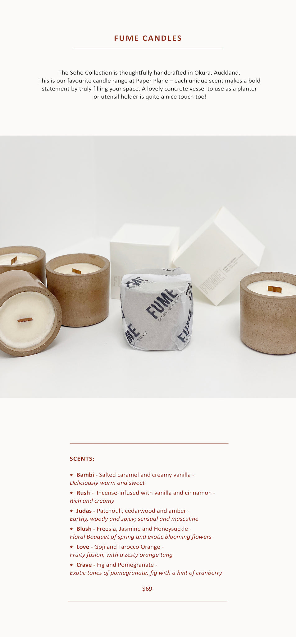 Proudly NZ Made – Fume Candles - Paper Plane Store