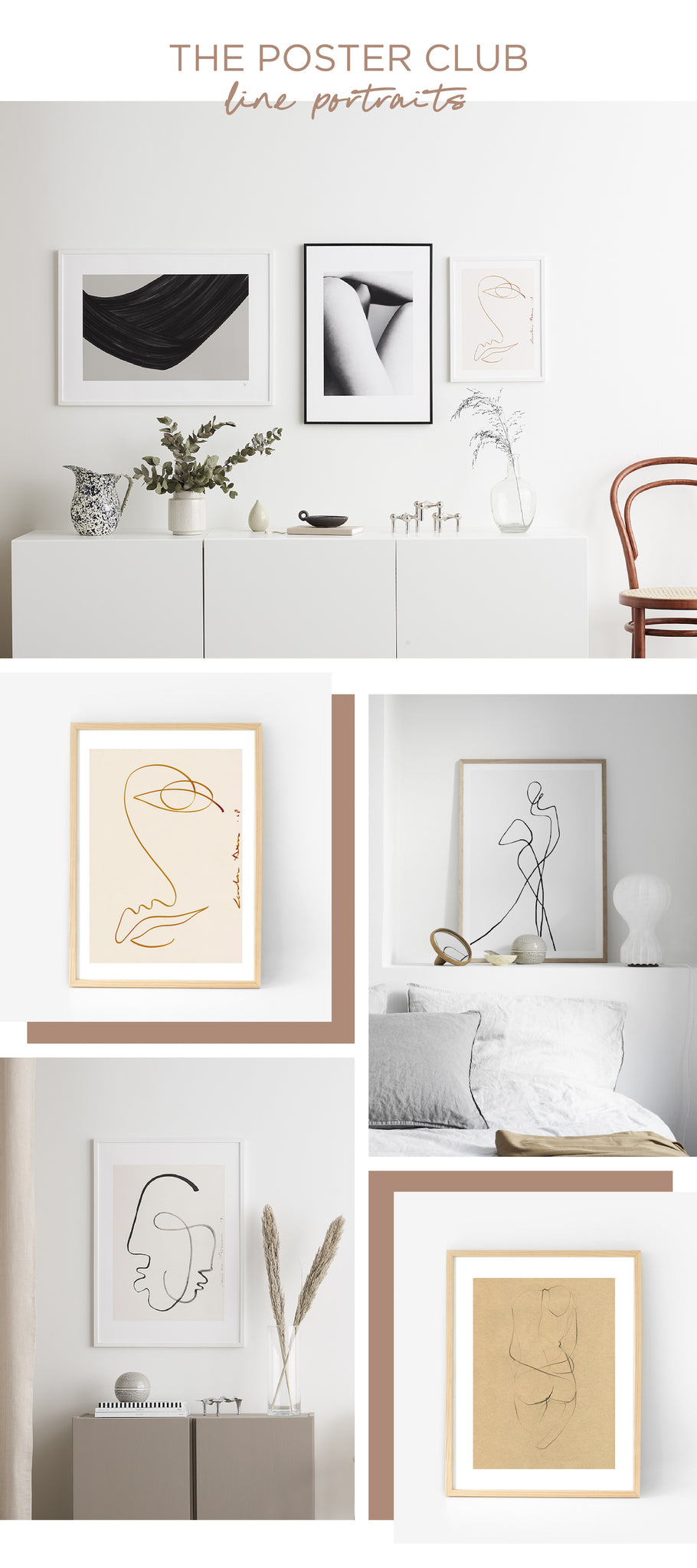 Simple & Natural - The Poster Club - Line Portraits