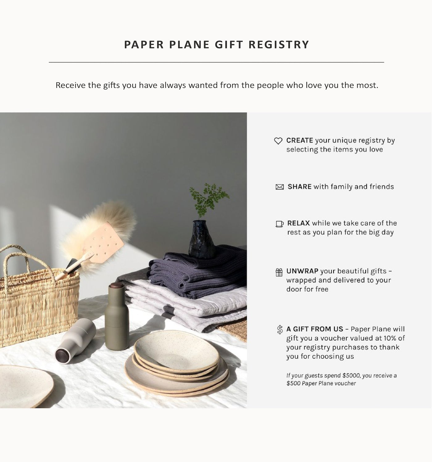 Paper Plane - Wedding Edit - Gifting - Mount Maunganui - Lifestyle Store