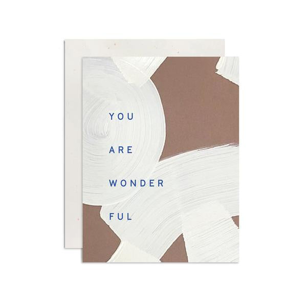 Card - You Are Wonderful
