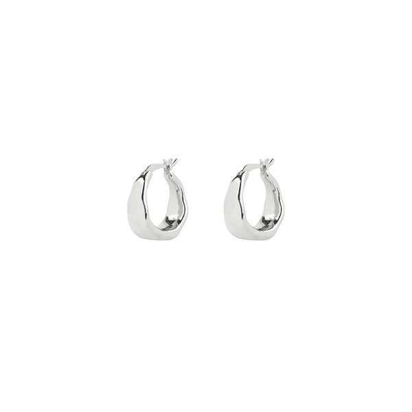 Brie Leon - Organica Curved Earrings - Silver - Mt Maunganui Stockist - Paper Plane