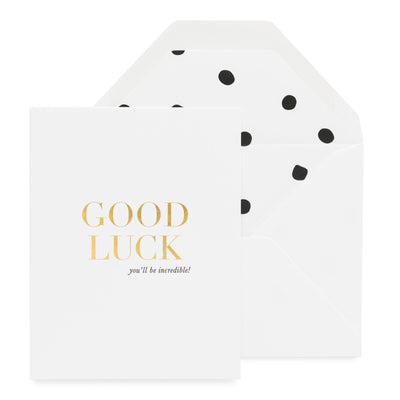Paper Plane - Sugar Paper - Good Luck, You'll Be Incredible - $9NZD