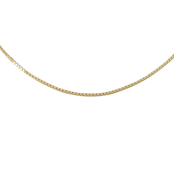 Sophie - Box Chain Necklace - Gold