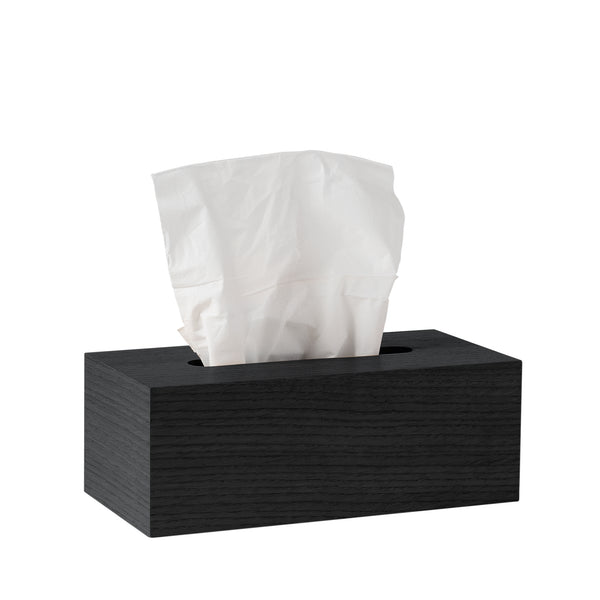 Oku Wooden Tissue Box - Black - Citta Design - Paper Plane - NZ Stockist - Bin - Organising