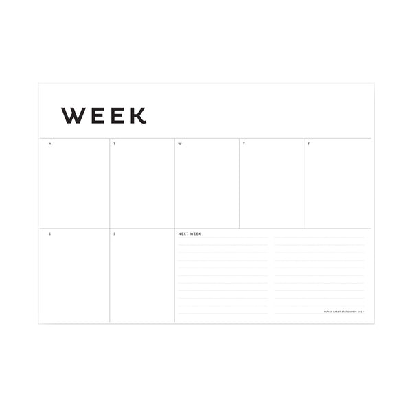 A4 Weekly Planner - Father Rabbit Stationery - NZ Stockist - Paper Plane