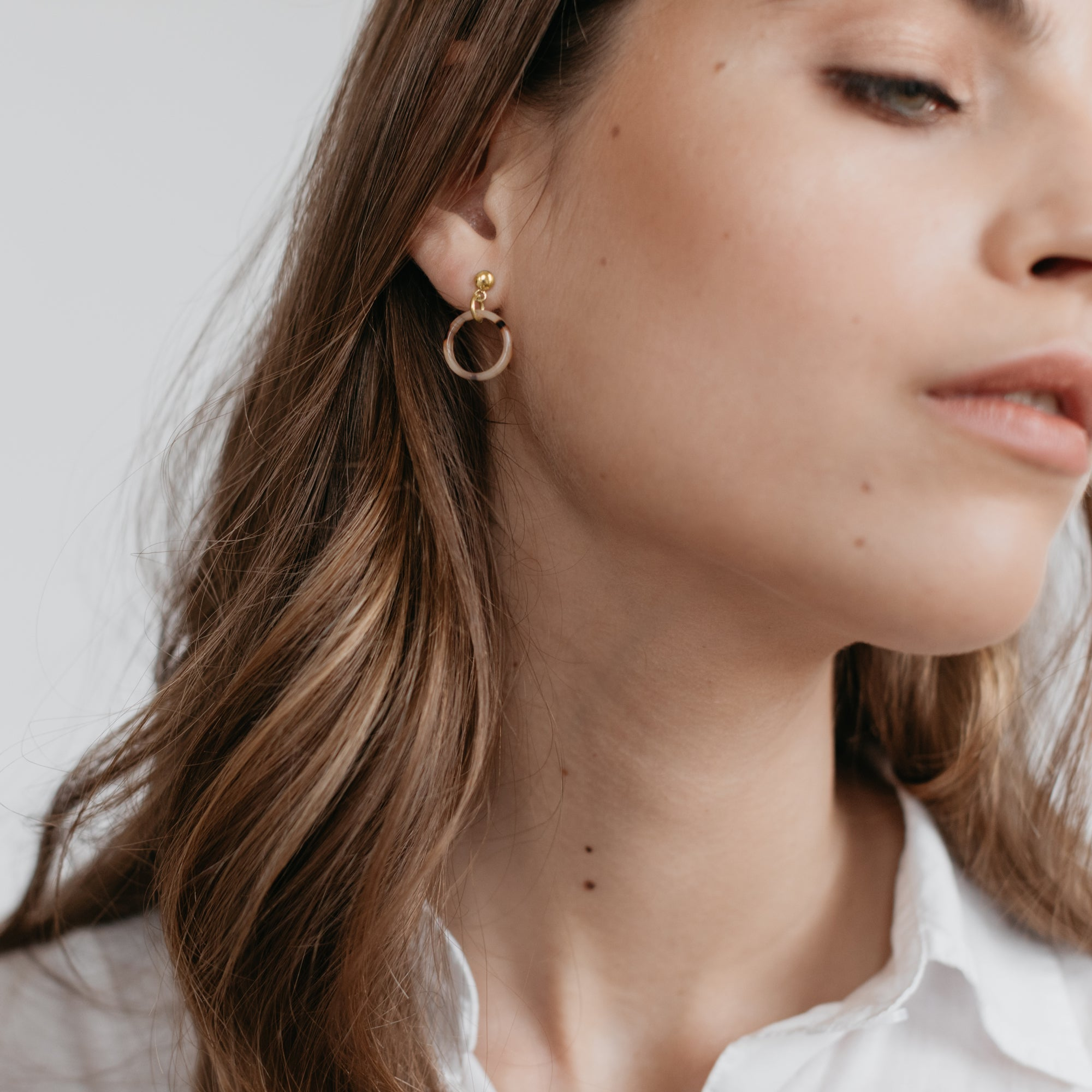 Sophie -  Little Tort Hoops - Light / Gold - Paper Plane - SOPHIE Store - NZ Stockist - Jewellery