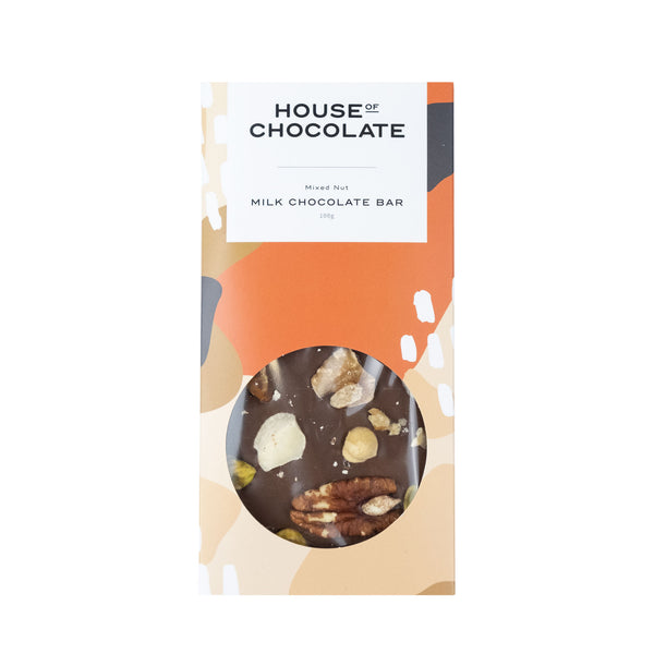 House of Chocolate - Mixed Nut Milk Bar - Made in New Zealand