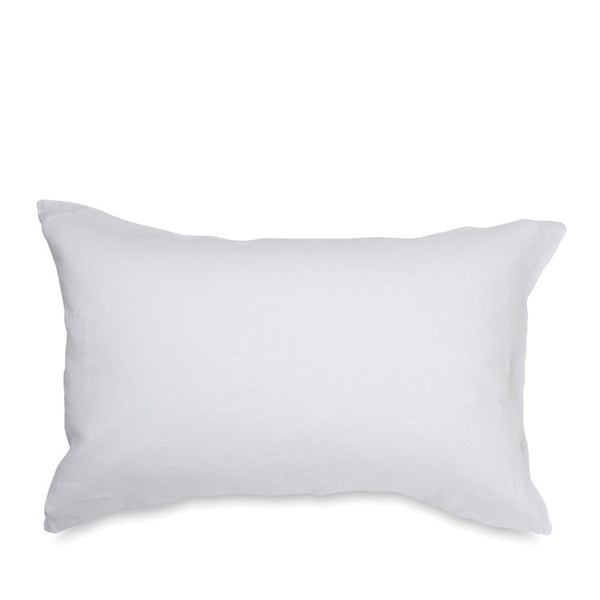 Linen Pillowcase Pair - White - Citta Design NZ - pure linen