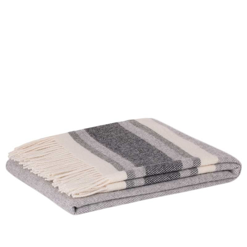 Lambswool Throw - Ohope Coal