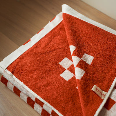 Baina - Organic Cotton Pool Towel - Roman - Paper Plane - Mt Maunganui Stockist