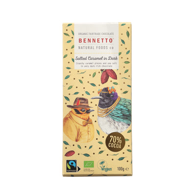 Bennetto - Salted Caramel in Dark Chocolate Bar