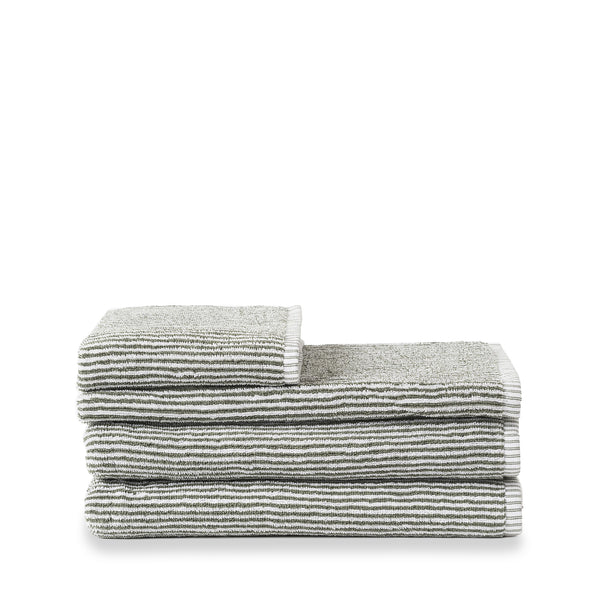 Classic Towels - Olive & White Stripe
