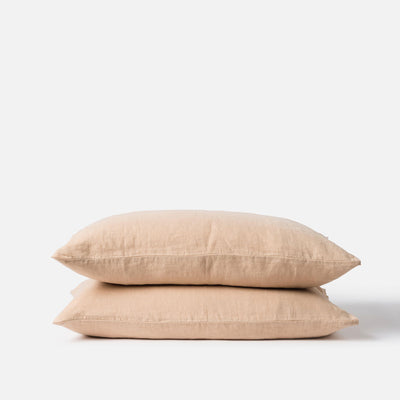 Paper Plane - Citta - Linen Pillowcase Pair - Latte - $79.90NZD - 1