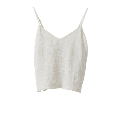 Pinstripe Linen Camisole - Pepper / Chalk - Citta - Mt Maunganui Stockist - Paper Plane