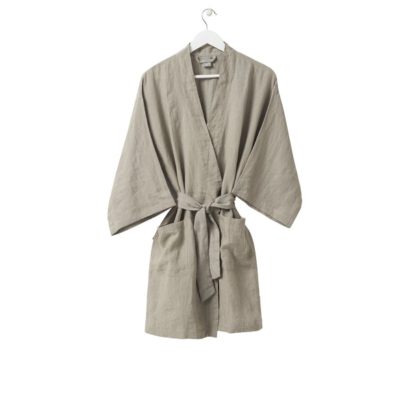 Short Linen Robe - Puddle