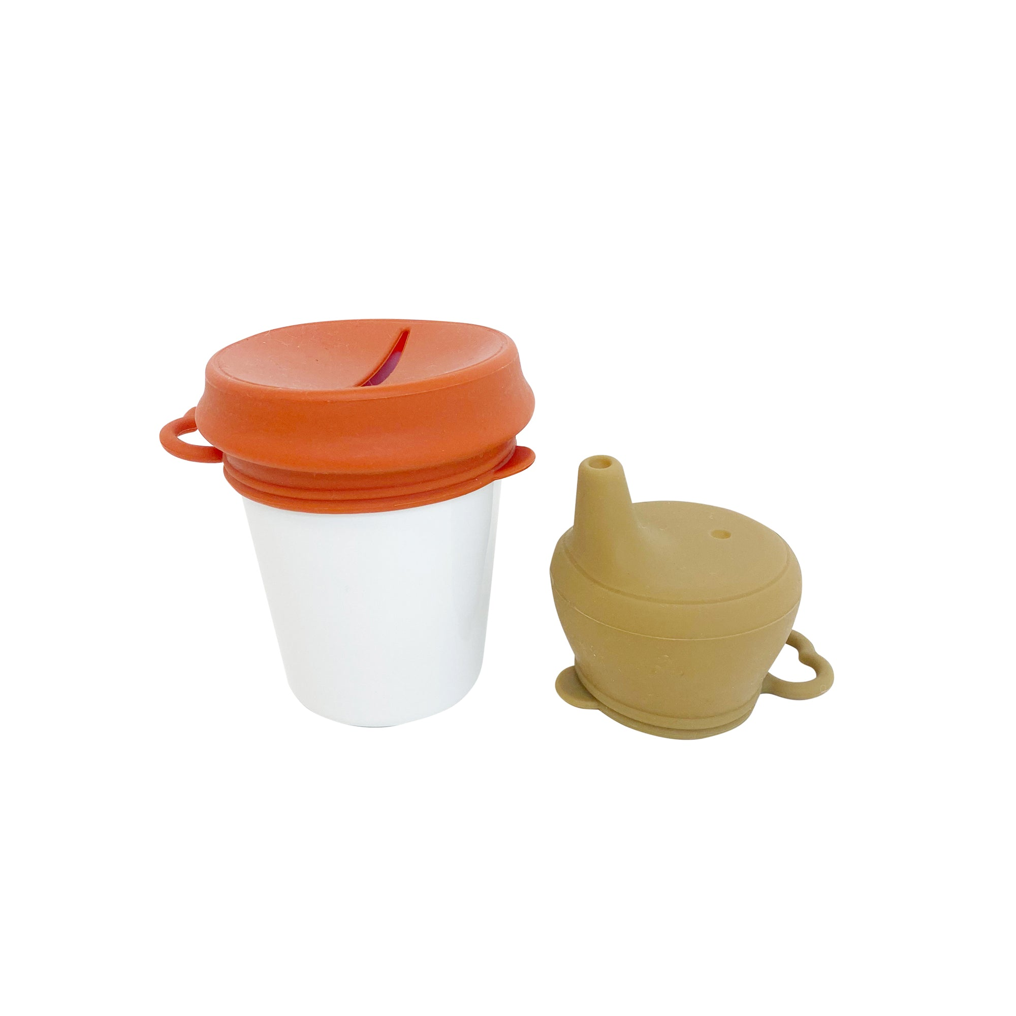 Sippy / Snack Lid Set - Autumn - Dove and Dovelet - Paper Plane - Mt Maunganui