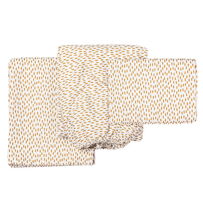 Eddy & Moss - Organic Cotton Sheet Set - Dash - Mt Maunganui - Paper Plane