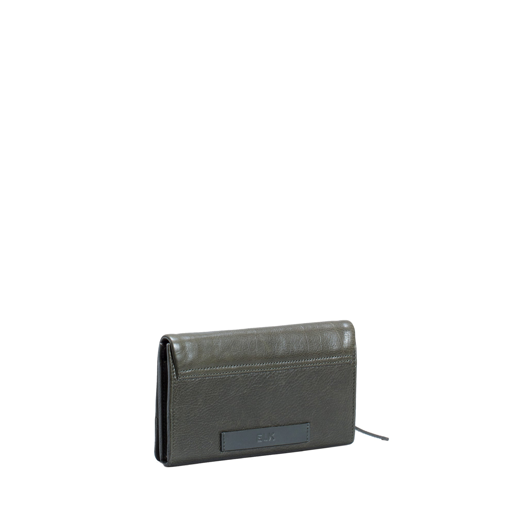 Fiola Leather Wallet - Khaki Green - Elk - Paper Plane Store