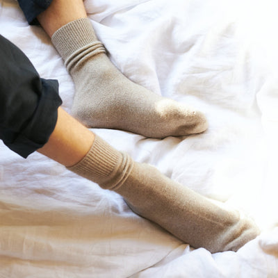 Bed Socks - Oatmeal - General Sleep Store - Tauranga Stockist - Shop Online Now