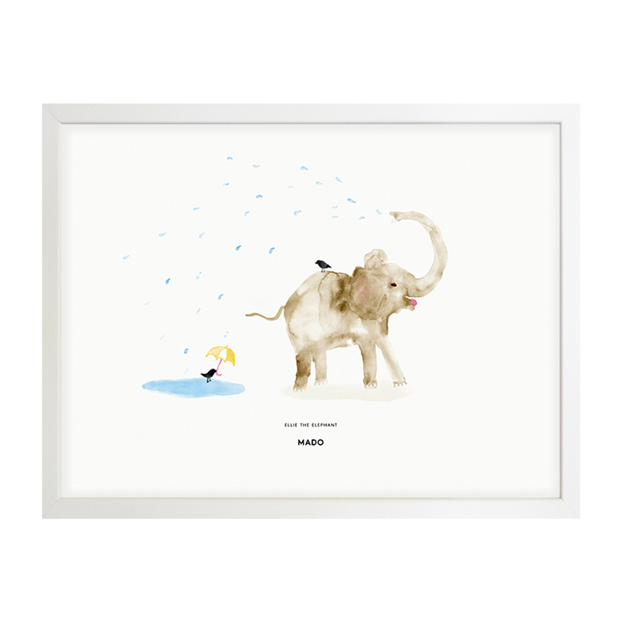 Art Print - Ellie the Elephant - MADO - NZ Stockist - Mado Stockist - Shop Online Now - Paper Plane