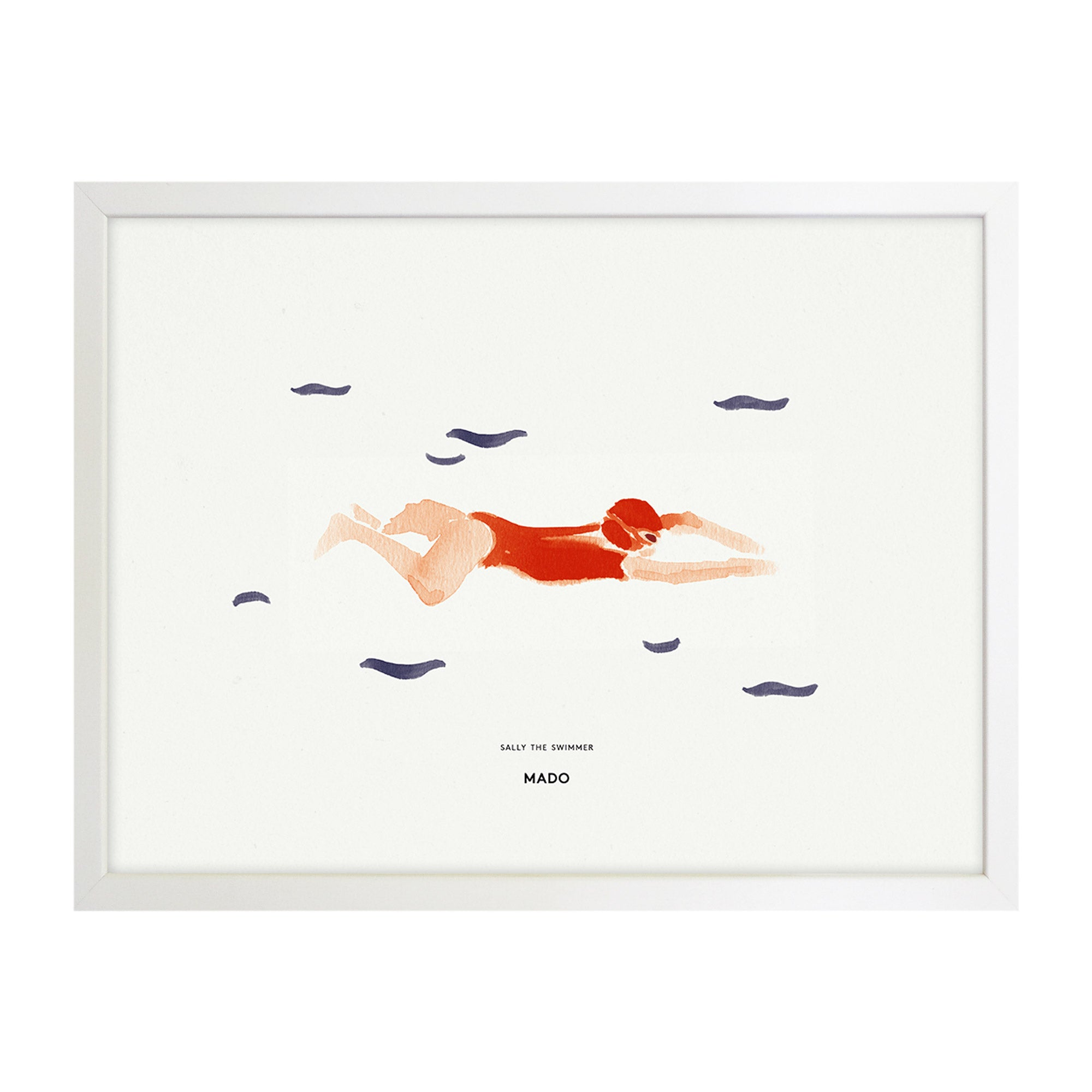 Art Print - Sally the Swimmer - MADO - NZ Stockist - Mado Stockist - Shop Online Now - Paper Plane