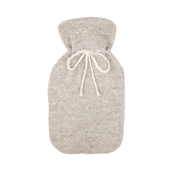 Merino Wool Hot Water Bottle Cover - Grey - Paper Plane