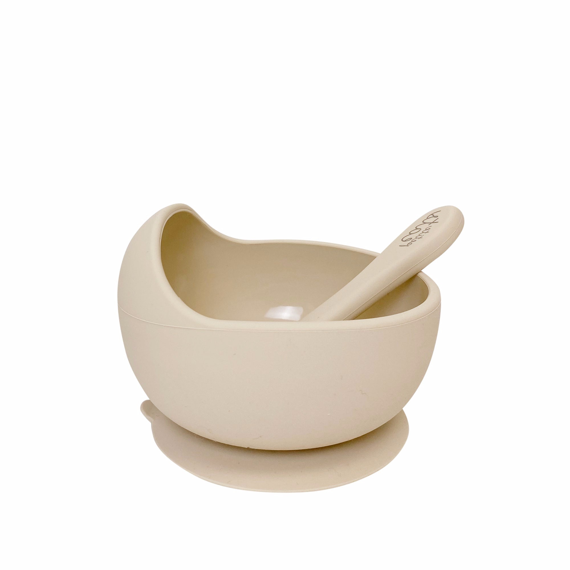 Suction Bowl & Spoon - Sand - Petite Eats - Baby - Paper Plane - Tauranga Stockist