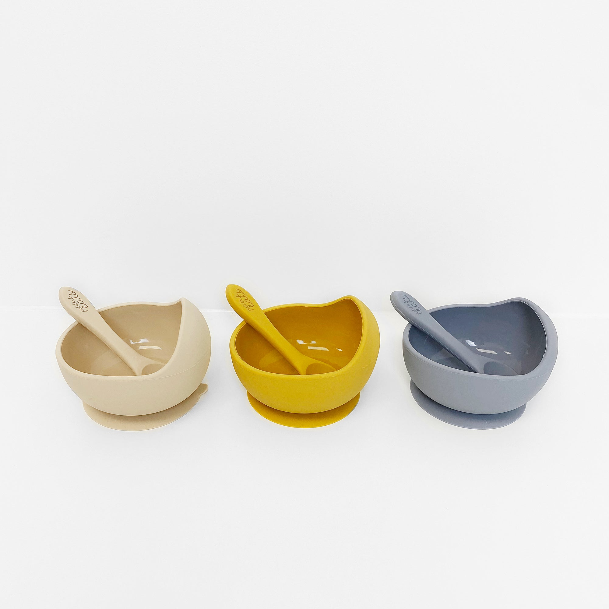 Suction Bowl & Spoon - Grey - Petite Eats - Baby - Paper Plane - Tauranga Stockist